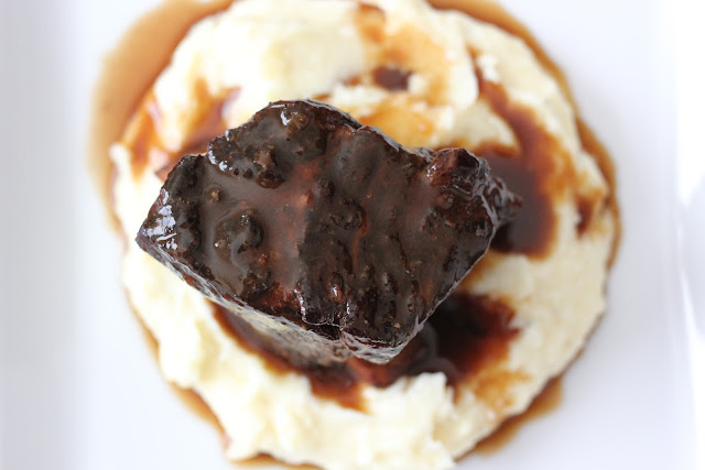 Beer Braised Short Ribs with Parsnip Purée