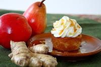 Ingwer Birnen Cupcakes mit Karamell