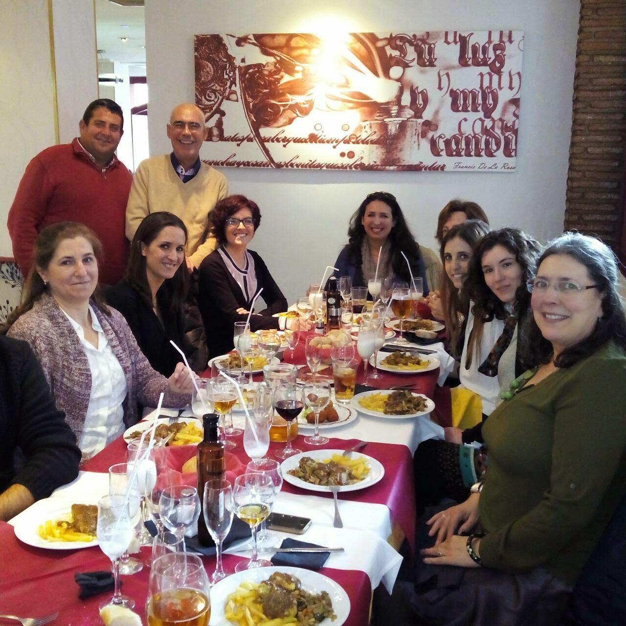 Fotos comida navidad. Asociación lupus Granada.