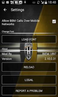 BBM MOD Juventus Versi 2.10.0.31 APK