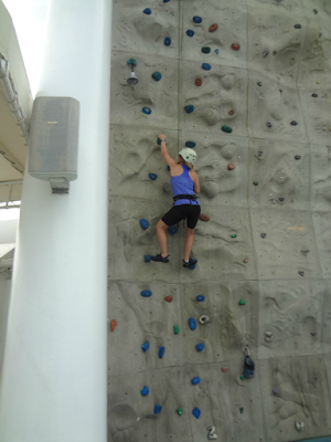Royal Caribbean rock wall