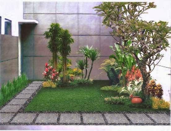 desain taman rumah minimalis 4