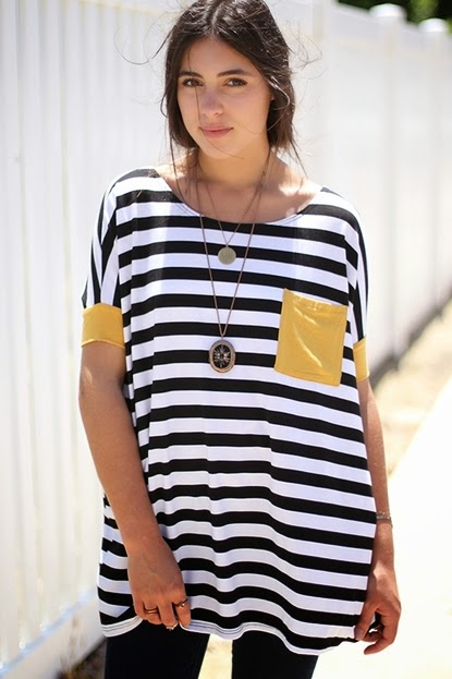 Buy online mastrud  striped tunic top for women on sale at caralase.com
