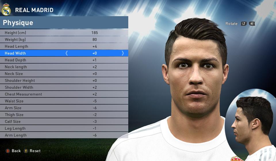 PESMODIF PES Cristiano Ronaldo Face Edit And Converter By - Download hair cristiano ronaldo pes 2013