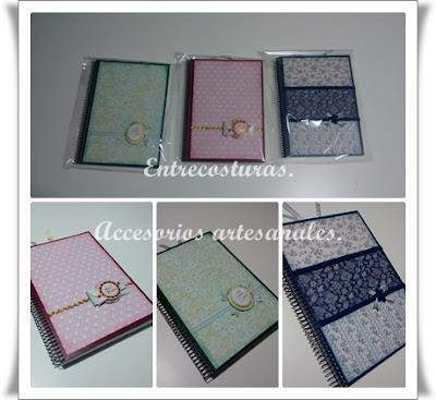Cuadernos scrap 01. Entrecosturas. Accesorios artesanales.