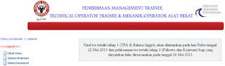 Pengumuman Seleksi Tahap II PT.Semen Padang