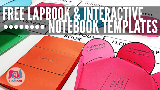 Free Editable Lapbook Interactive Notebook Templates