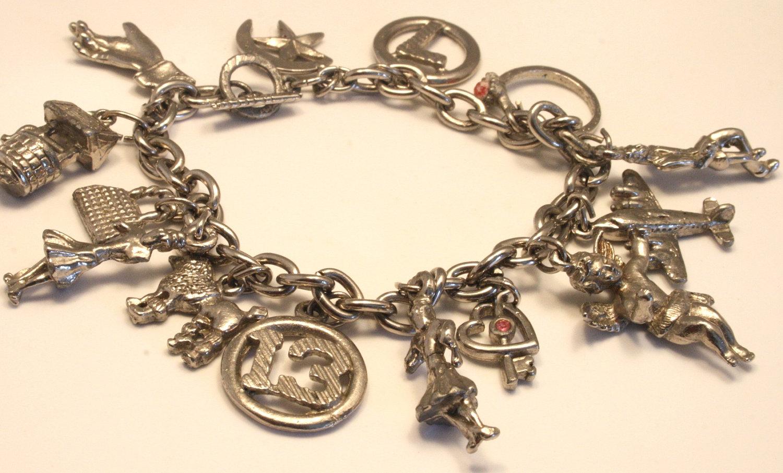 bracelet zipper galleries charm bracelet vintage