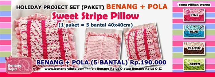 "PROJECT PACKAGE "" SWEET STRIPE PILLOW"""