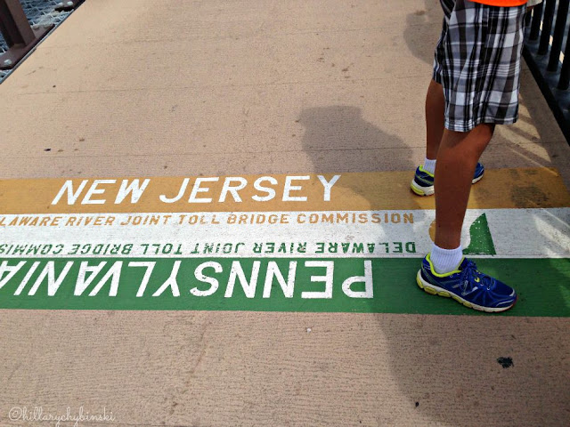 Standing in two states - PA and NJ
