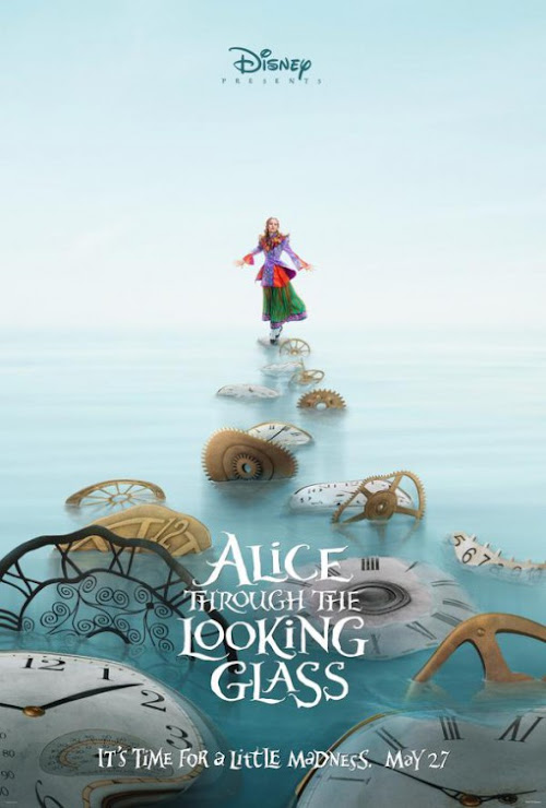 Alice no País das Maravilhas: Através do Espelho (Alice Through the Looking Glass) acaba de ganhar 2 teaser posteres