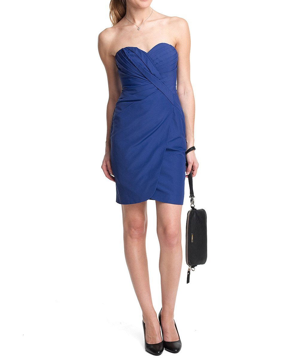 Esprit collection damen kleid bustierkleid korsagenkleid blau