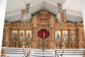 Ένα πραγματικό κόσμημα, το ξυλόγλυπτο τέμπλο του Ιερού Ναού του Αγίου Αντωνίου (φωτογραφίες)
