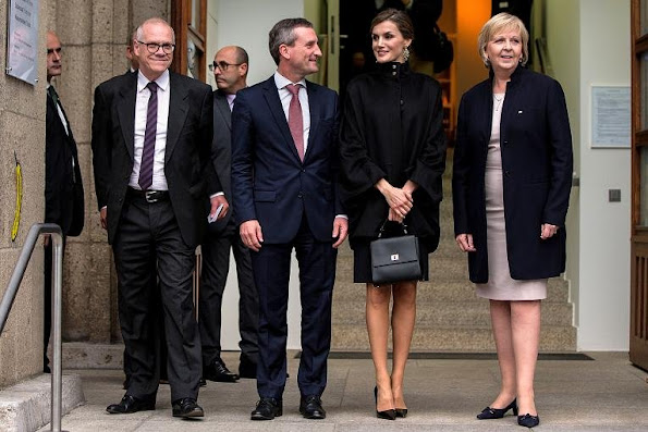 "Queen Letizia of Spain arrived in Dusseldorf (Germany). Queen Letizia with Hannelore Kraft and museum director Beat Wismer and mayor Thomas Geisel attends the opening of exhibition ""Zurbaran"" at Museum Kunstpalast in Dusseldorf"