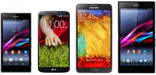 Galaxy Note 3 vs Xperia Z1 vs Xperia Z Ultra vs LG G2 Review