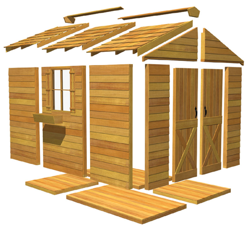 garden sheds are made by outdoor living today and are very similar to cedar sheds the difference is the following tight knot tongue and groove type