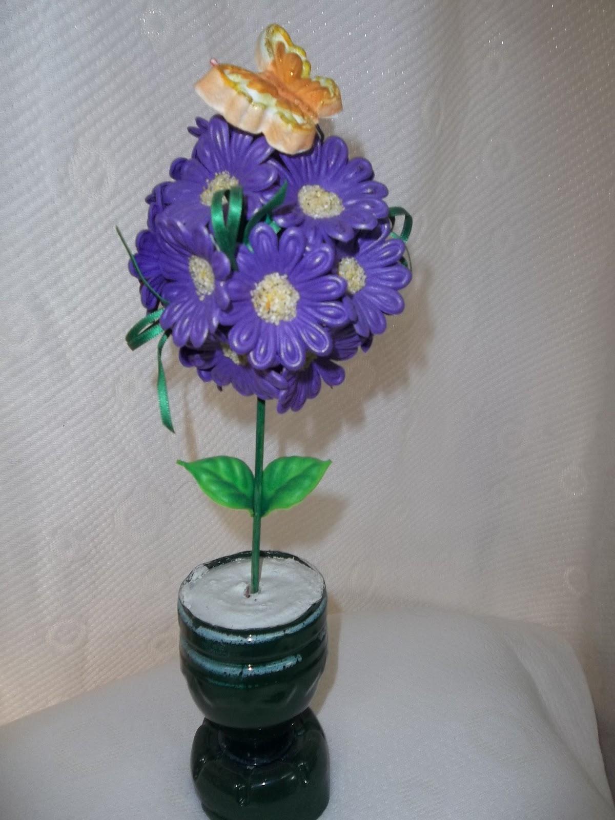 Flores En Goma Eva: Topiarios