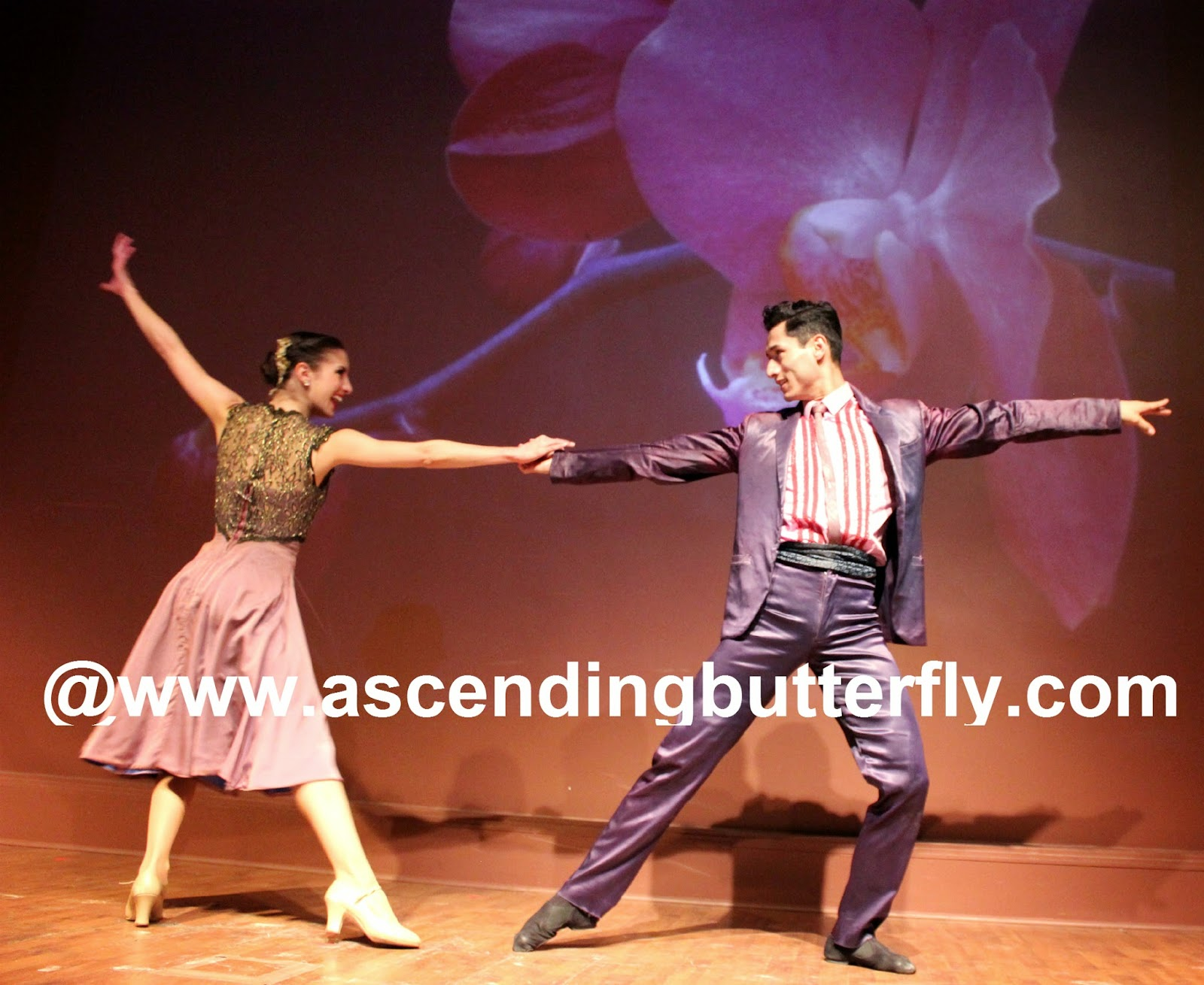 Ballet Hispanico BHdos, Dancer, Nicolay Espitia, and his dance partner are a powerful presence onstage during the scene in a number entitled: Club Havana