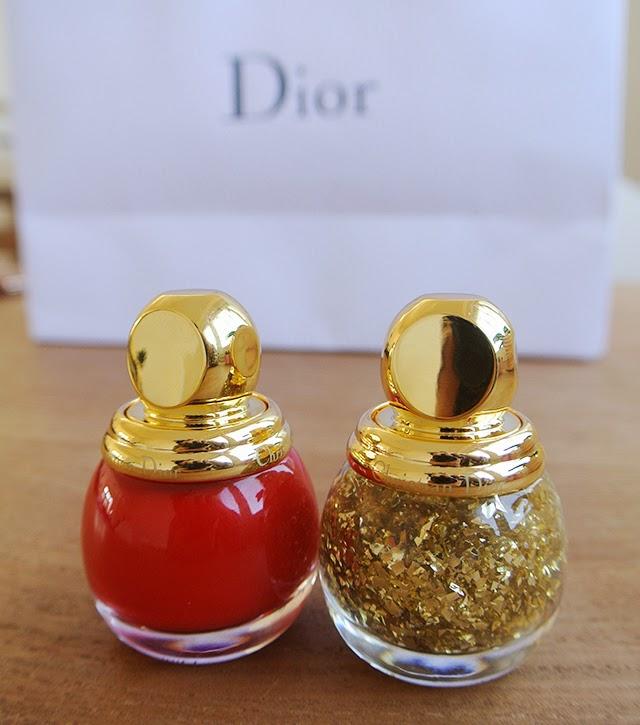 diorific golden flake top coat golden shock