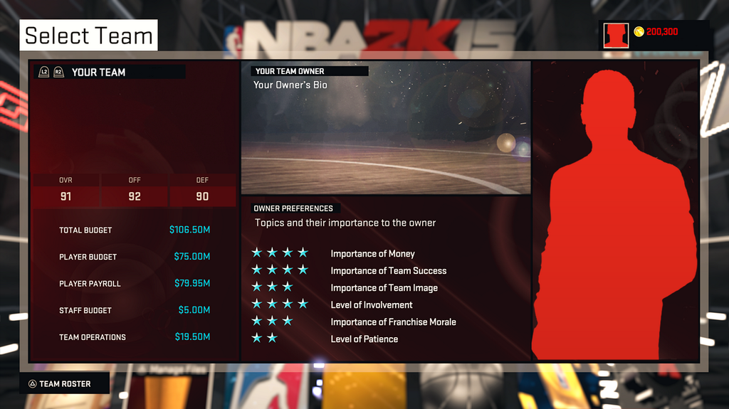 NBA 2K15 MyGM Profile