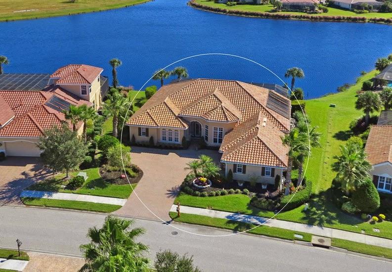 238 Pesaro Dr. overhead lake view