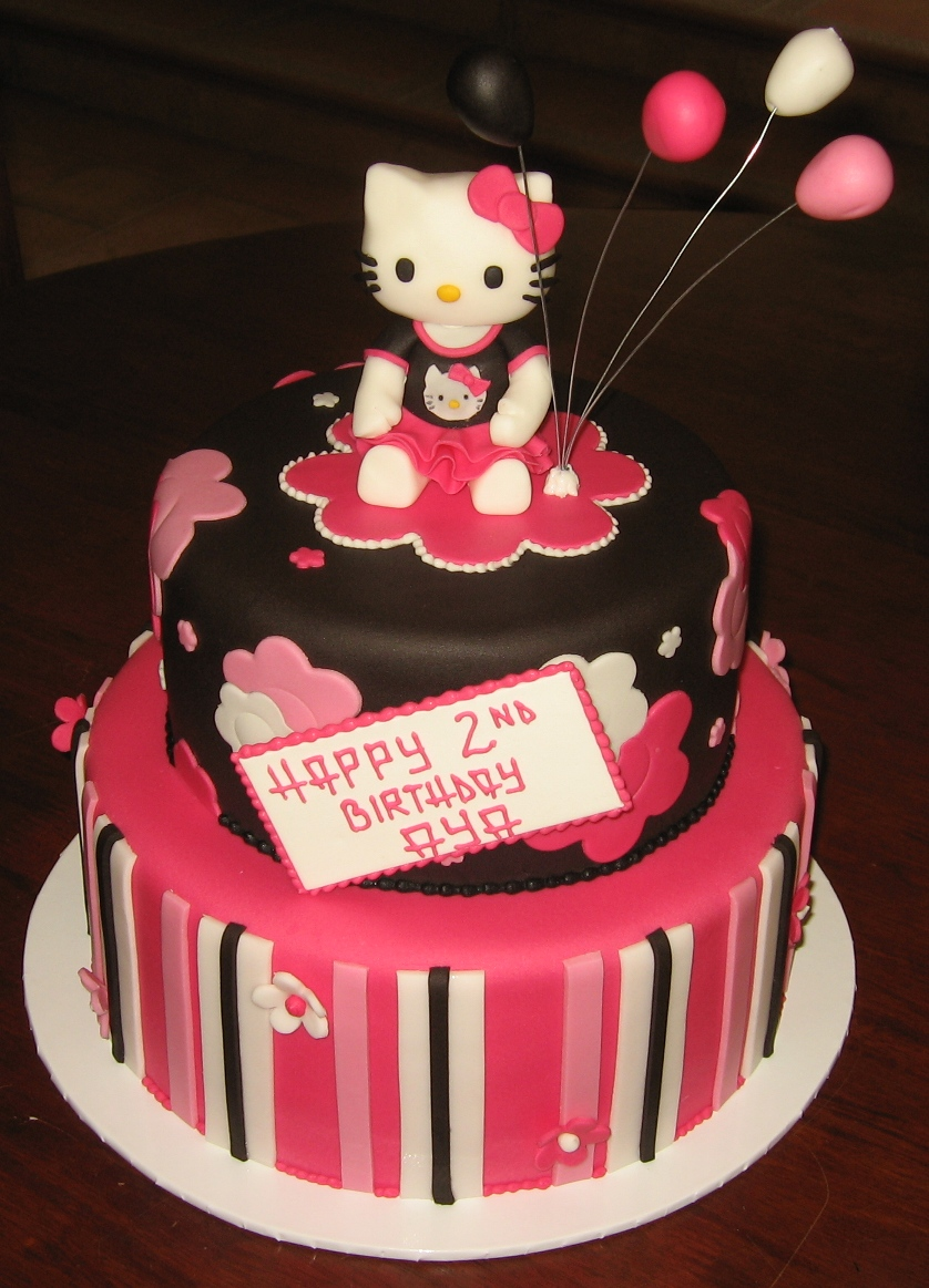 Let Them Eat Cake Two Tier Hot Pink Hello Kitty