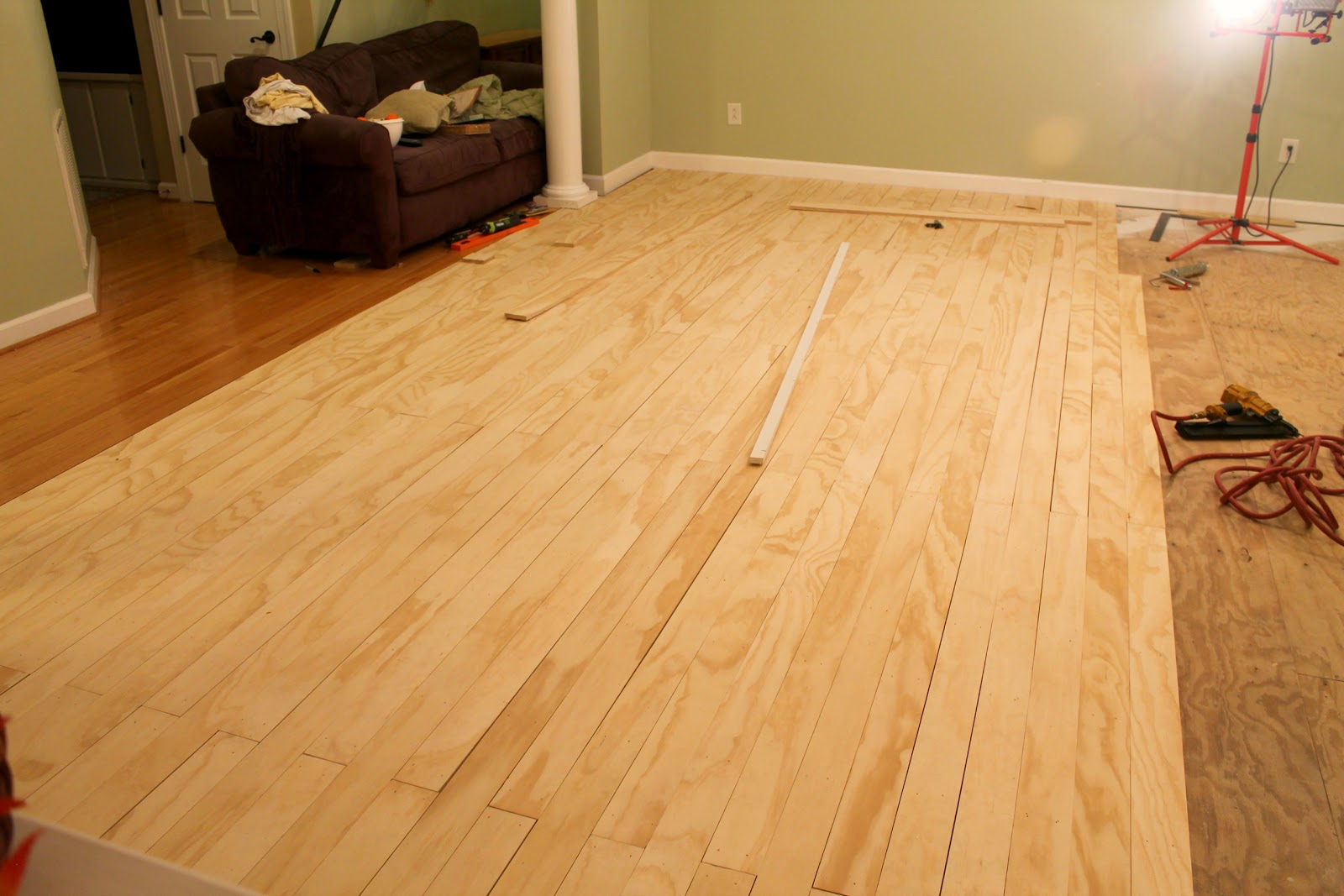 Plywood floors for Flor flooring