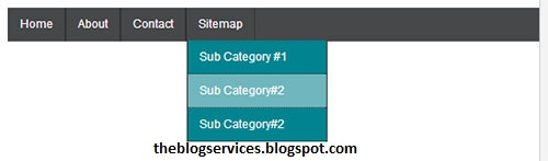 How to Creat Simple Drop Down Menu For Blogger