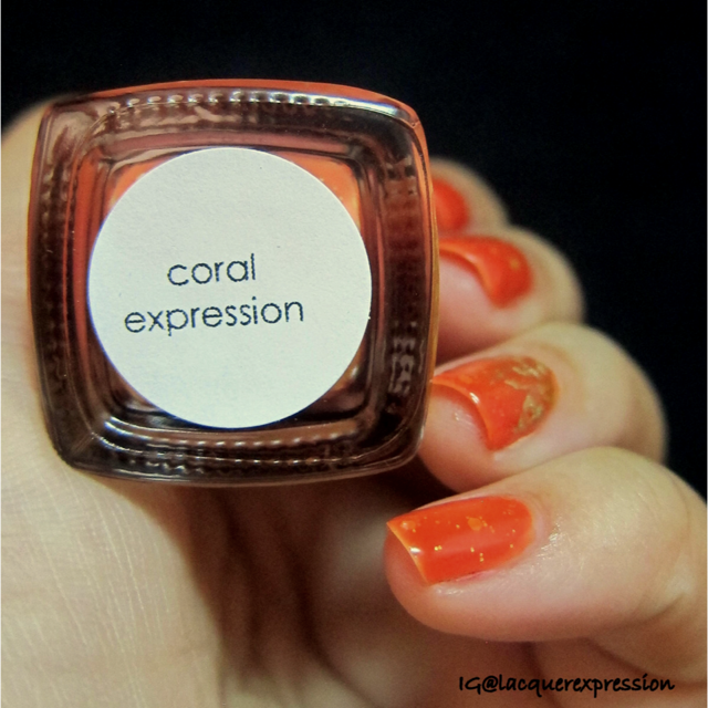 swatch of coral expression by bliss polish