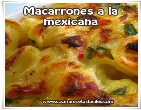 Recetas de pastas , receta de macarrones a la mexicana