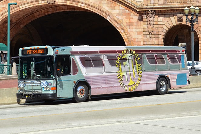 Transitblog port authority of allegheny county port authority 39 s 50th anniversary bus t wraps - Pittsburgh port authority ...
