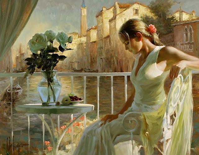 D.W.C. Woman in Flowers - Artist Vladimir Volegov