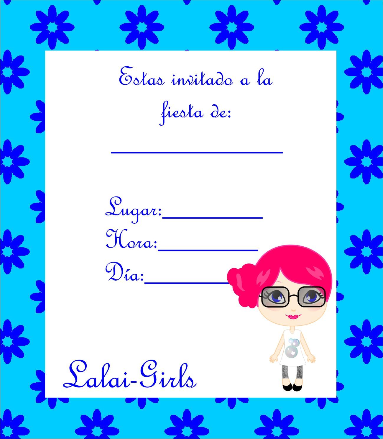 Invitaciones Tipo Ticketmaster Editables Gratis Power Point - Girls