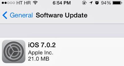 Update iOS 7.0.2