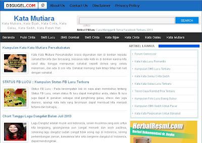 Rizky Rama Blogger Template
