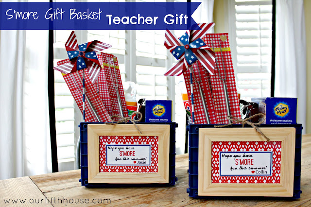 s'more gift basket - teacher gift - Our Fifth House