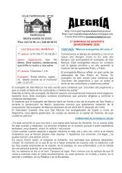 HOJAS PARROQUIALES ALEGRIA. TIEMPO ORDINARIO CICLO B