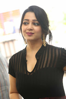 Charmi in black transparent top at Big C Scratch and Win Event