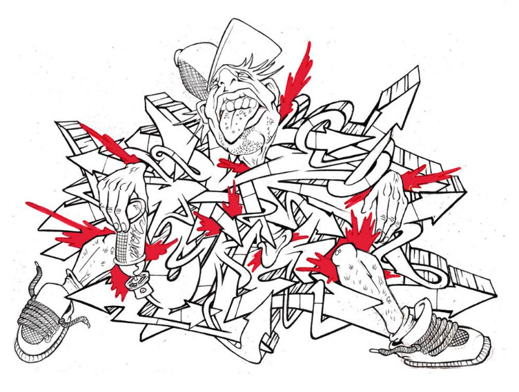 Sketch Wildstyle Graffiti Letter Characters