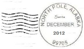 2012 North Pole Postmark and Cancellation