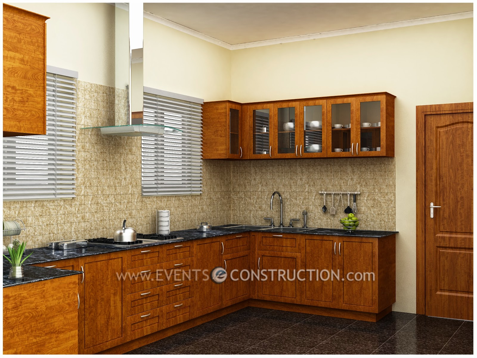 Evens construction pvt ltd simple kerala kitchen design for Kerala style kitchen photos