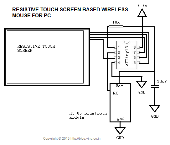 electronics the king of hobbies resistive touch screen based circuit diagram