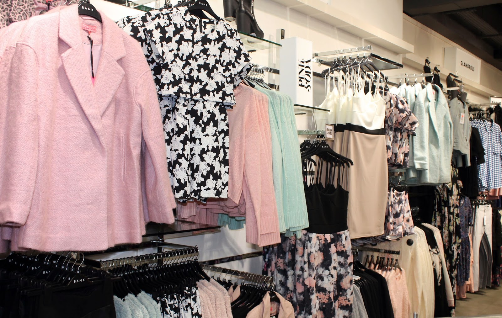 BANK fashion warrington visual merchandising pink soda