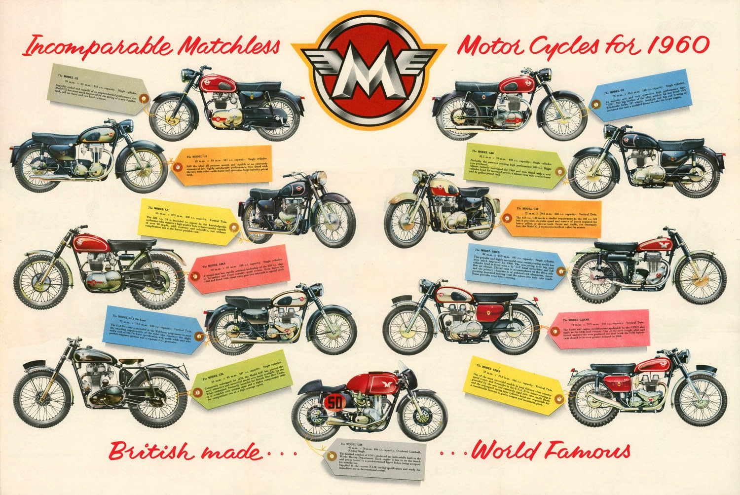 Racing Caf U00e8  Incomparable Matchless Motor Cycles For 1960