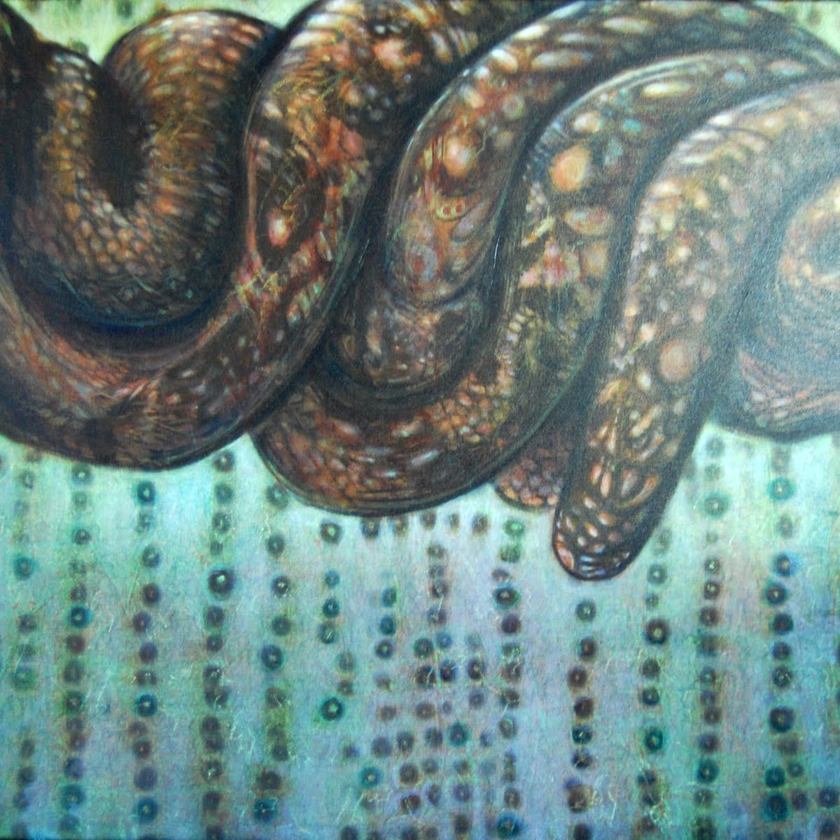 Biodiversity is a slippery subject  Acrylic on canvas