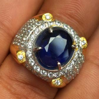 Jual cincin batu permata asli natural sapphhire safir biru blue harga