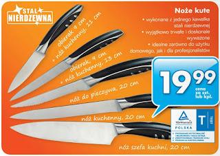 Noże kute z Biedronki ulotka