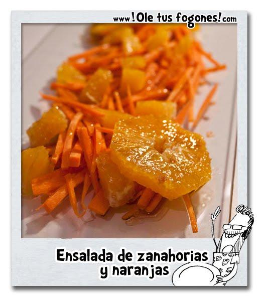 Ensalada de zanahorias y naranjas