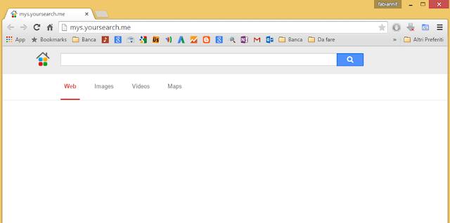 Come rimuovere Mys.yoursearch.me da pagina iniziale Google Chrome, Mozilla Firefox e Internet Explorer