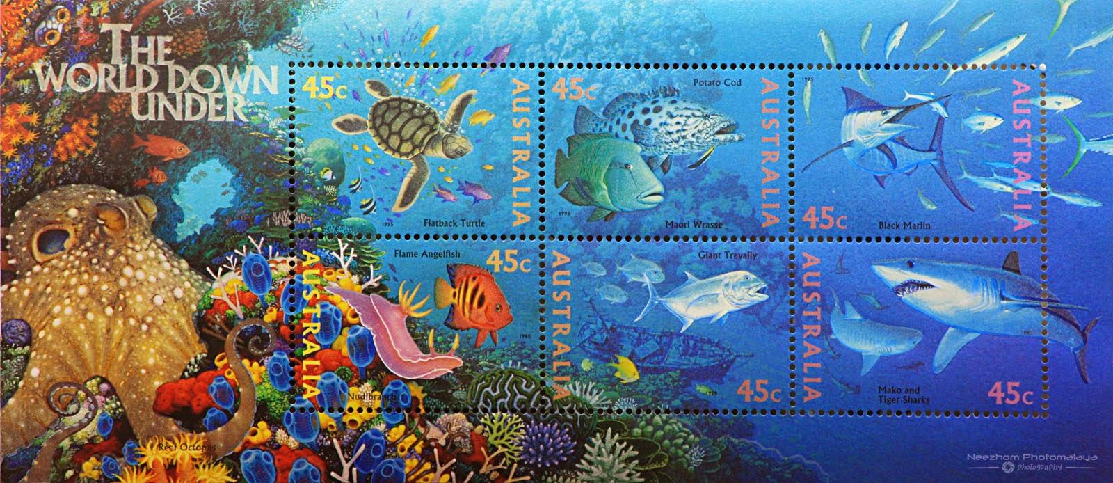 Australia 1995 The World Down Under miniature sheet